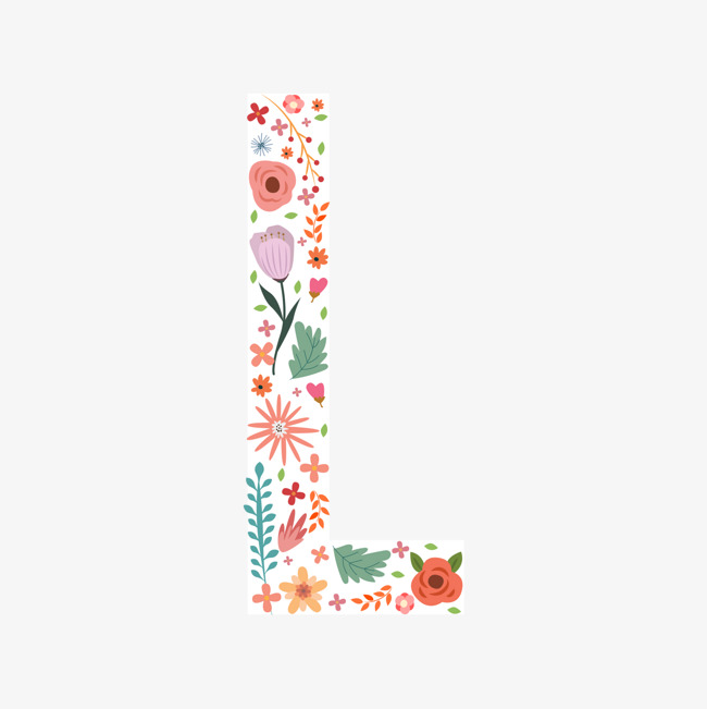 650x651 Flowers Letter L, Letter Vector, Flower, Flower Alphabet Png And