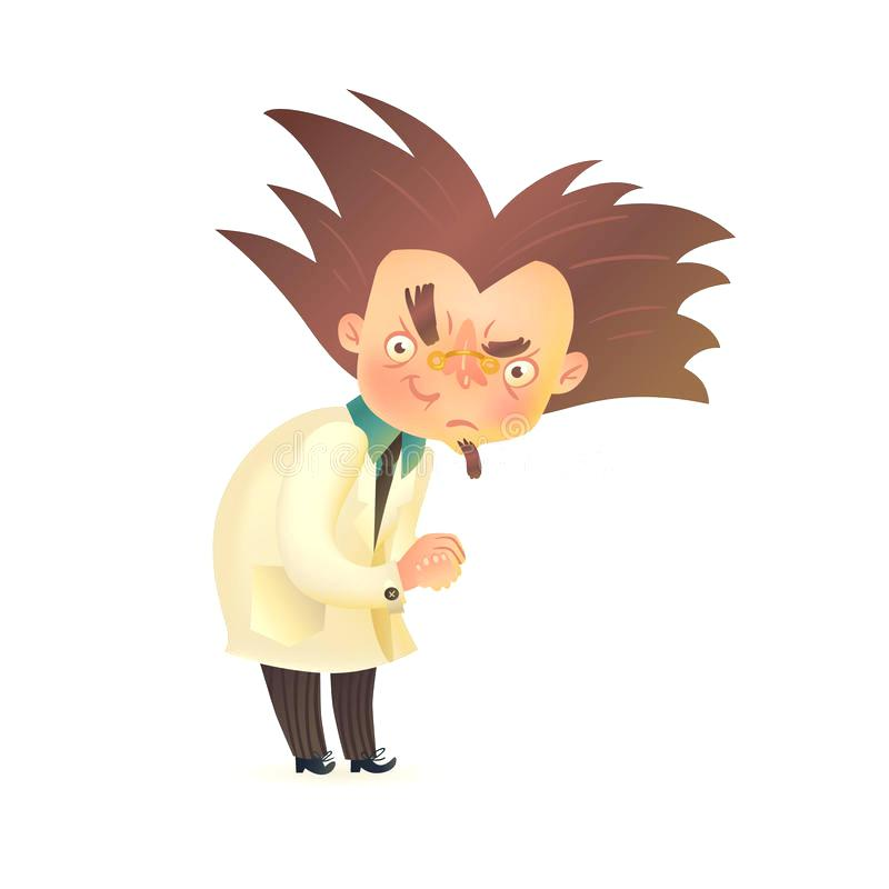 800x800 Lab Coat Anime Download Evil Mad Professor With Raised Eyebrow In