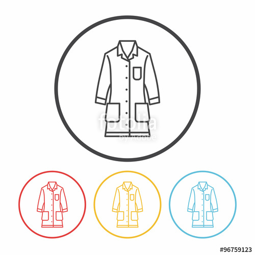 500x500 Lab Coat Line Icon Stock Image And Royalty Free Vector Files On