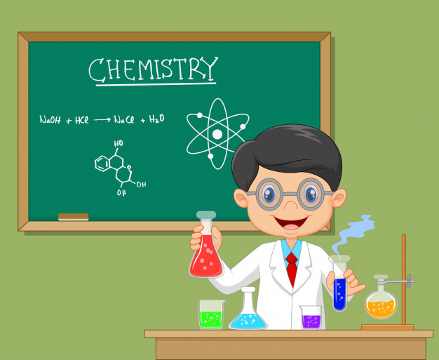 626x513 Scientist Boy In Lab Coat Vector Premium Download