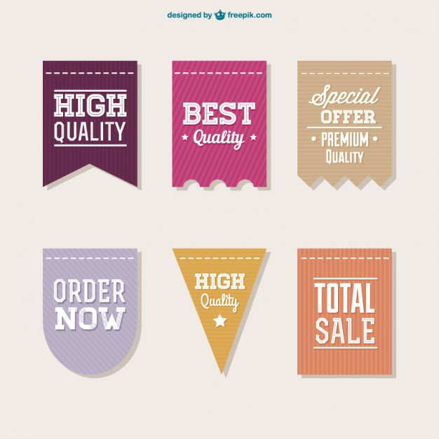 626x626 High Quality Labels Collection Vector Free Download