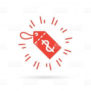 300x300 Red Discount Label Icon With Dollar Price Symbol Sale Tag Gm