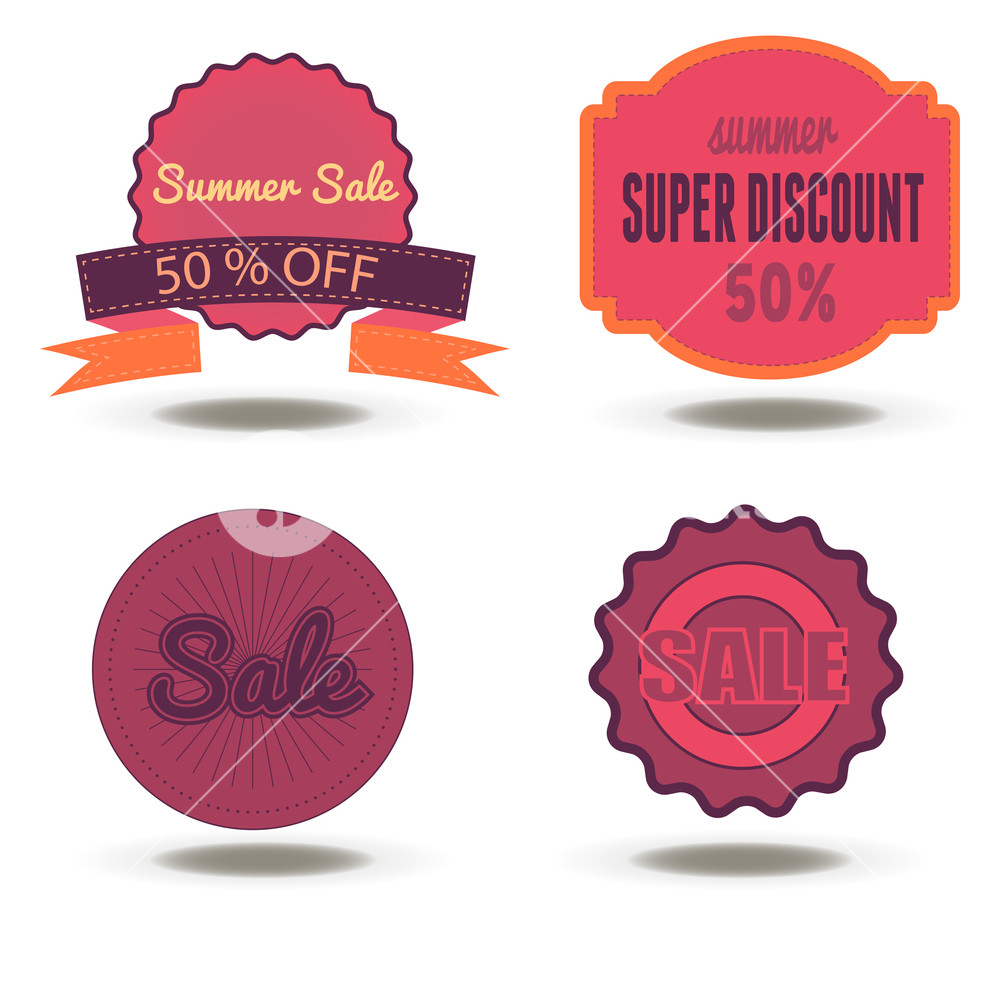 1000x1000 Sale Badge Discount Tag Vector Label Promotion Price Offer