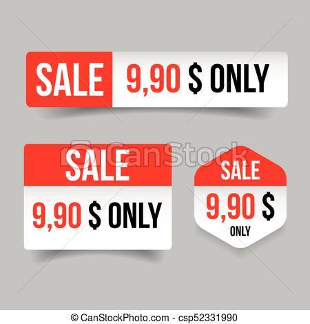 450x470 Sale Label Tag Sticker Vector.