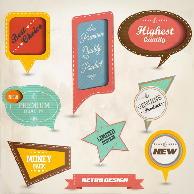 626x626 Set Of Paper Tag Labels 2 Download Free Vector Vector Free