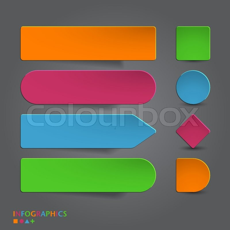 800x800 Abstract Infographics Banner, Label, Tag Designs Template. Vector