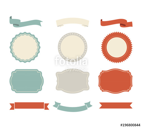 500x450 Banner Shape Vector Design. Ribbon And Label Tag Vintage Style
