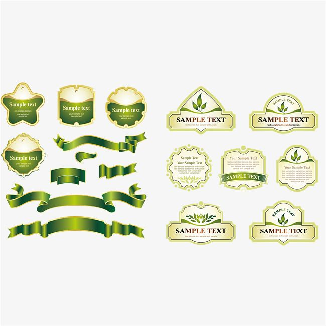 650x651 And Green Label Tag Vector Material, Ribbon, Green, Tag Png And