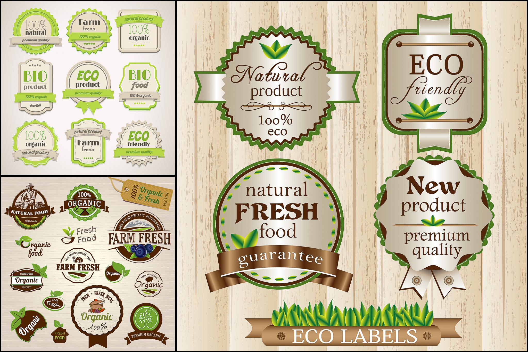 2048x1365 Eco Organic Food Labels Vector Free Download Vectorpicfree (Free