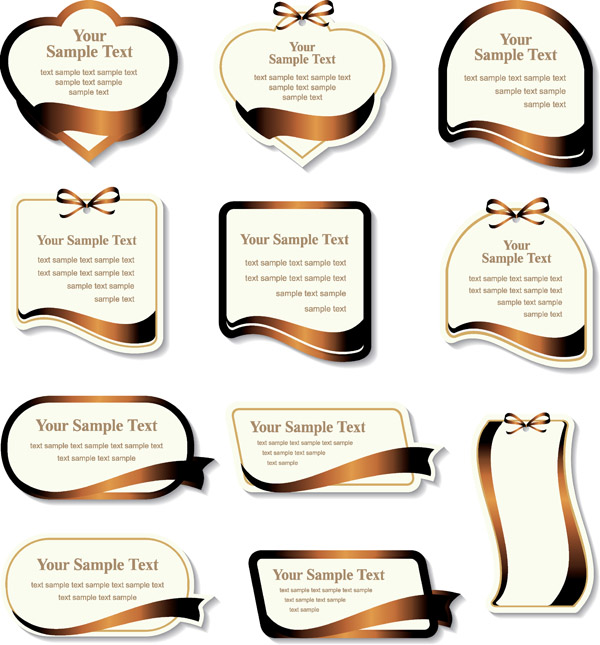 600x645 Gold Ribbon Label Vector Free Vector 4vector