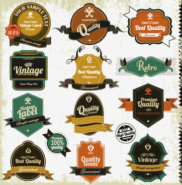 362x368 Set Of Vintage Badges8 Labels Vector Png Images, Backgrounds And