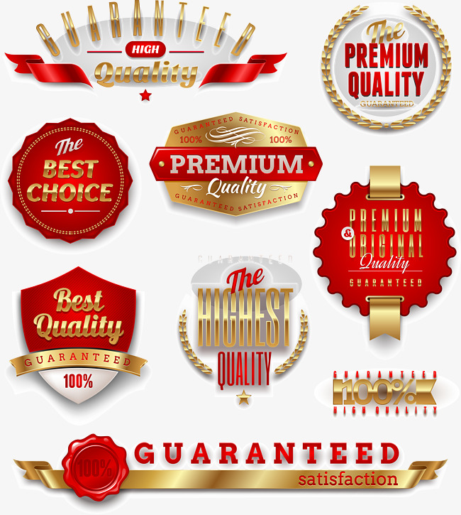 650x725 Vector Gold Label, Vector Material, Red, Promotions Png And Vector