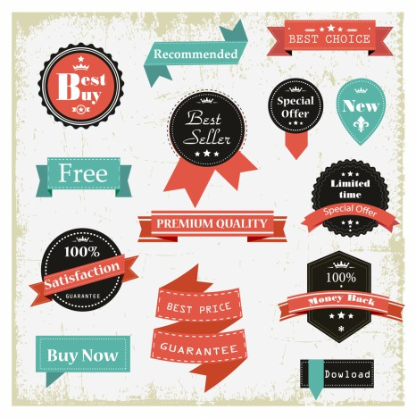466x468 Vintage Labels Vectors Stock In Format For Free Download 3.15mb
