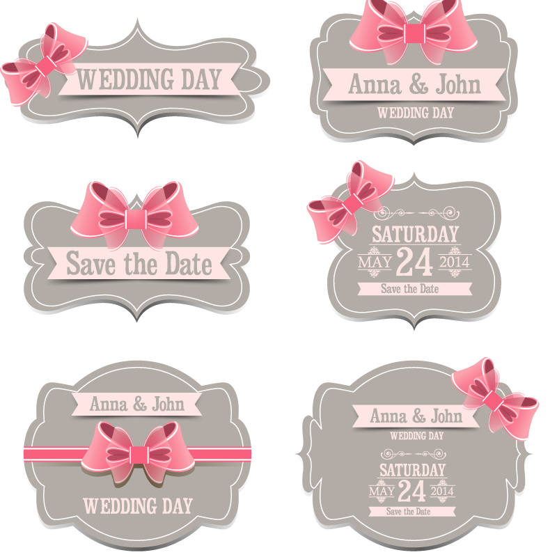 800x800 Wedding Day Ribbon Label Vector Free Vector Graphic Download