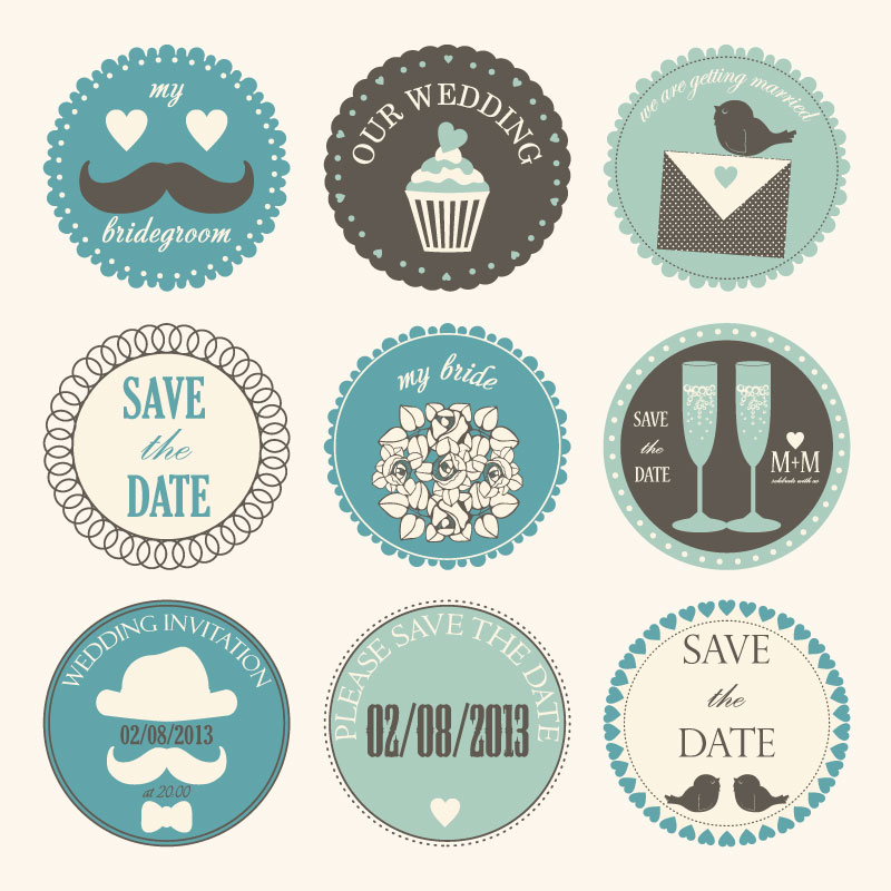 800x800 Wedding Day Vintage Label Vector Free Vector Graphic Download