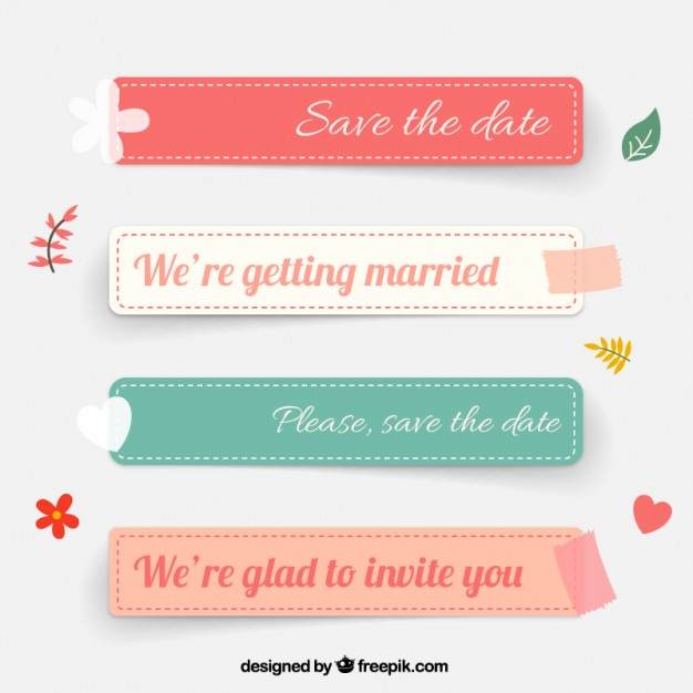 626x626 Wedding Labels Vector Free Download
