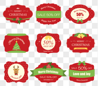 341x300 Christmas Label Vector Material Images 35676 Christmas Label