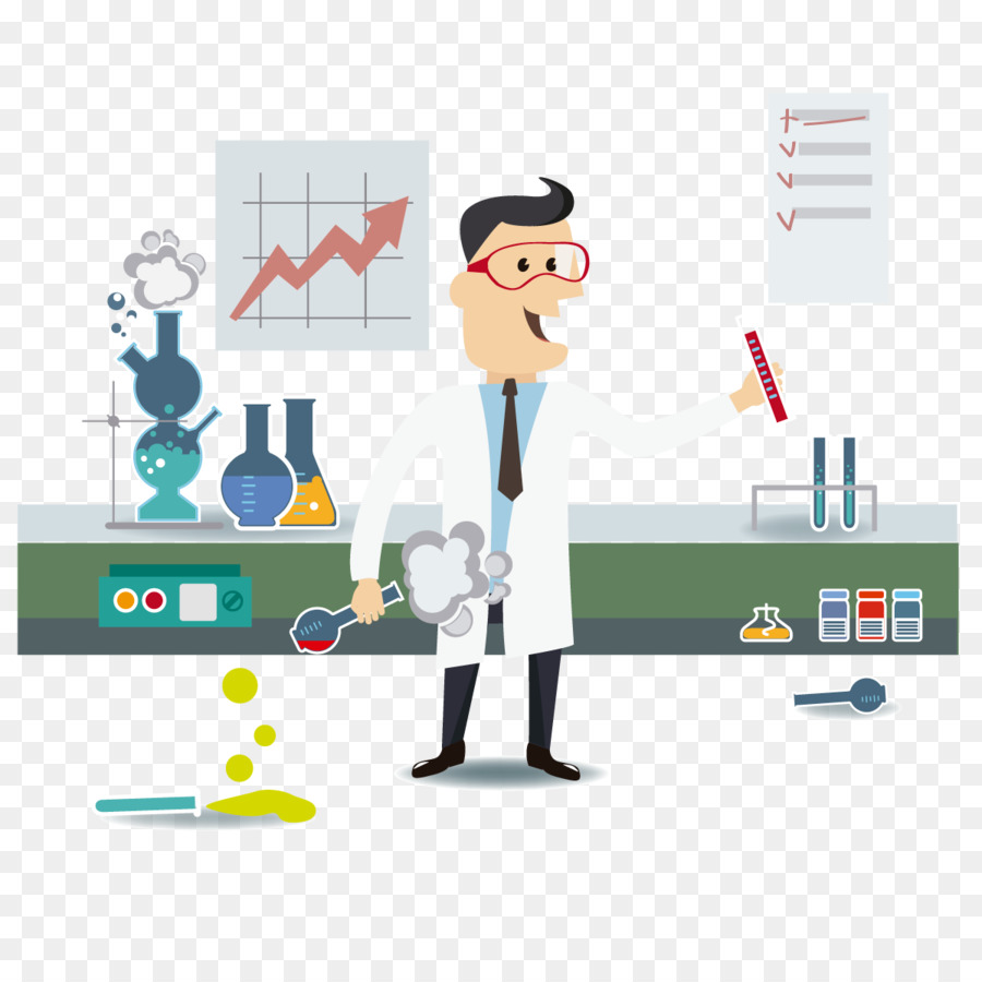 900x900 Laboratory Science Scientist Euclidean Vector Chemistry