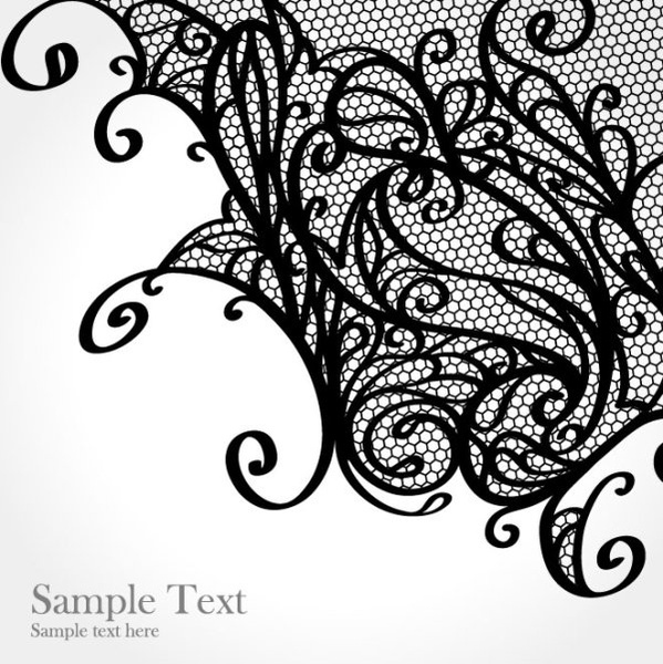 599x600 Lace Pattern Background 01 Vector Free Vector In Encapsulated