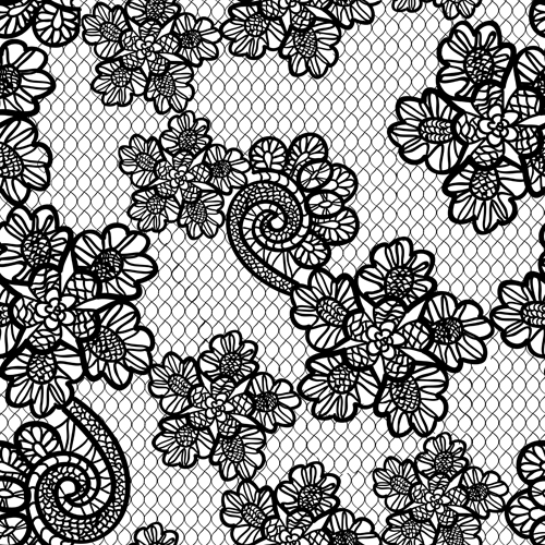 500x500 Retro Lace Ornament Pattern Seamless Vector 01 Free Download