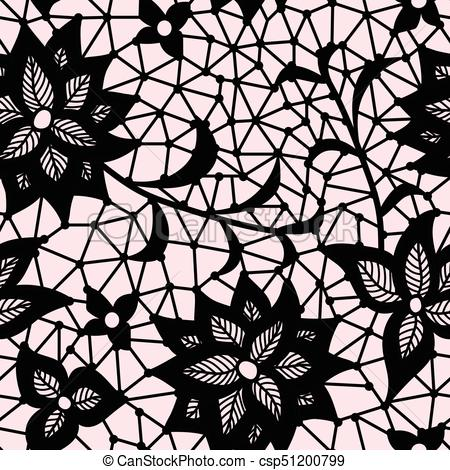 450x470 Seamless Flower Lace Pattern Eps Vectors