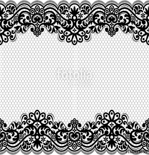 481x500 Seamless Lace Pattern, Flower Vintage Vector Background. Stock