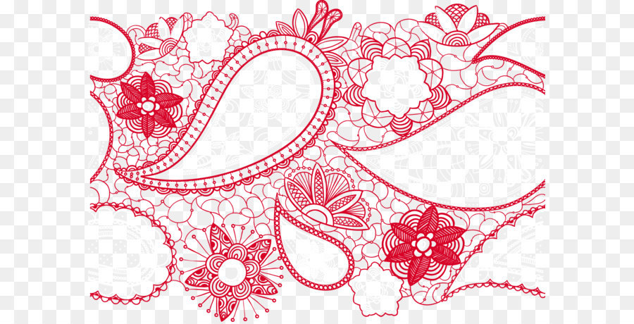 900x460 Vector Lace Pattern Png Download