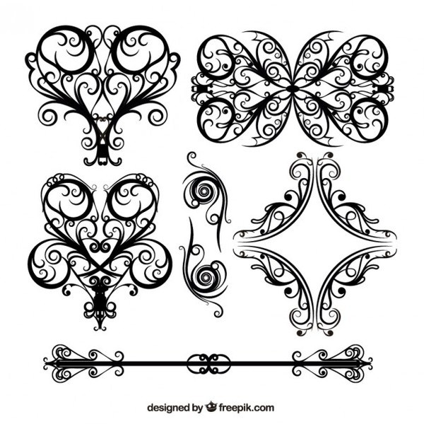 600x600 Wedding Floral Lace Pattern Vector Free Vectors 123freevectors