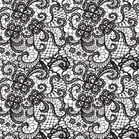 539x539 Beautiful Lace Black Pattern Vector 10 Free Download