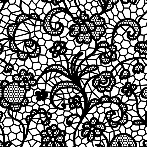 500x500 Black Lace Pattern Vector Design 06 Free Download