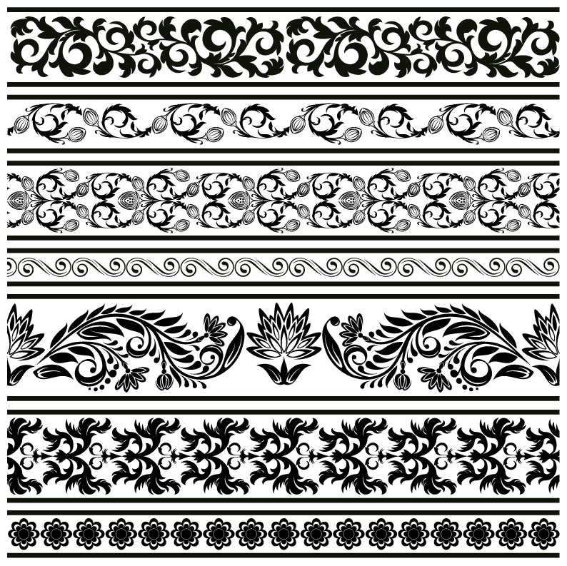 794x793 Classic Lace Pattern Template Vector 2 Vector Sources