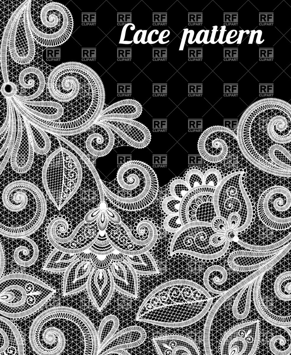 984x1200 Floral Lace Pattern In White Color Vector Image Vector Artwork