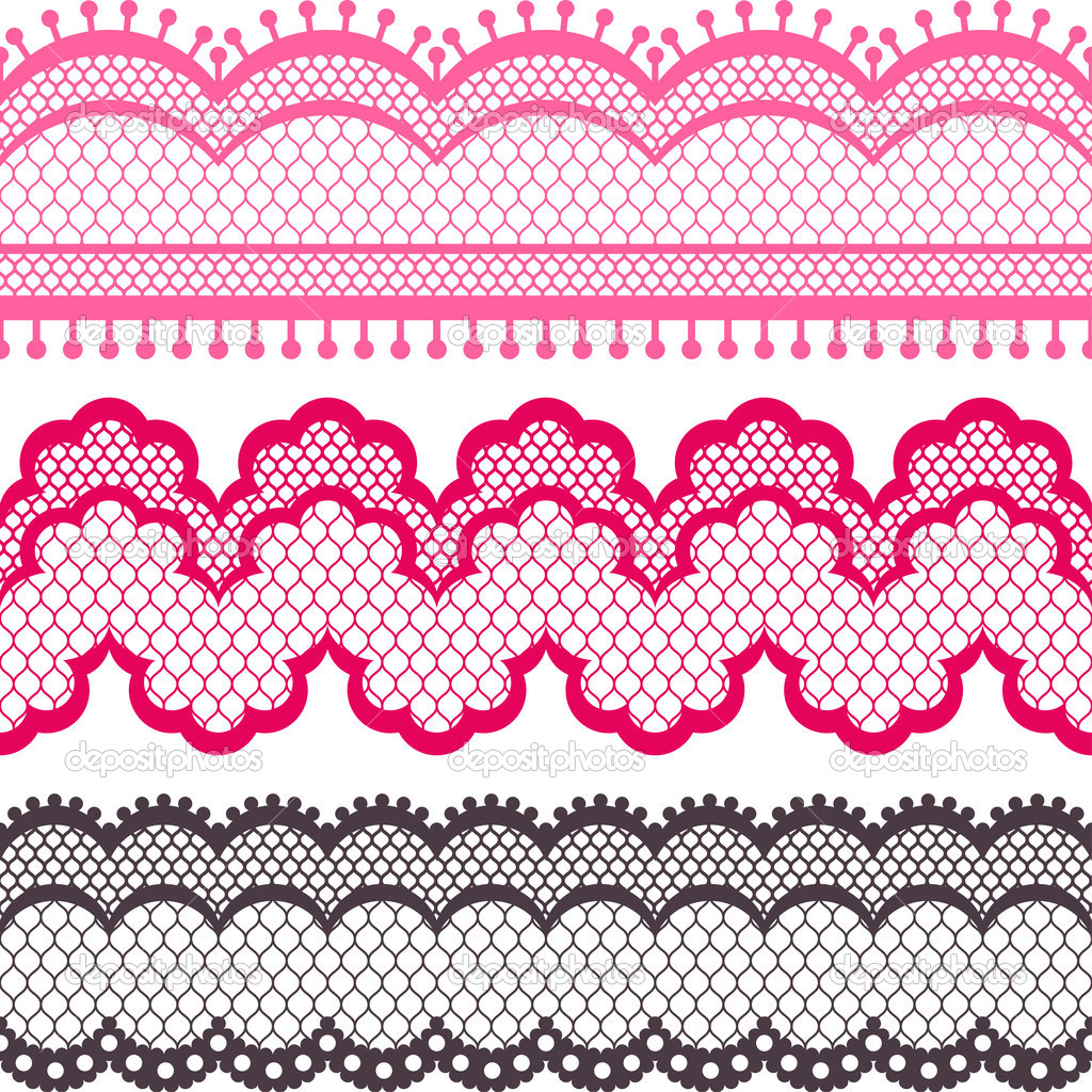 Lace Ribbon Vector