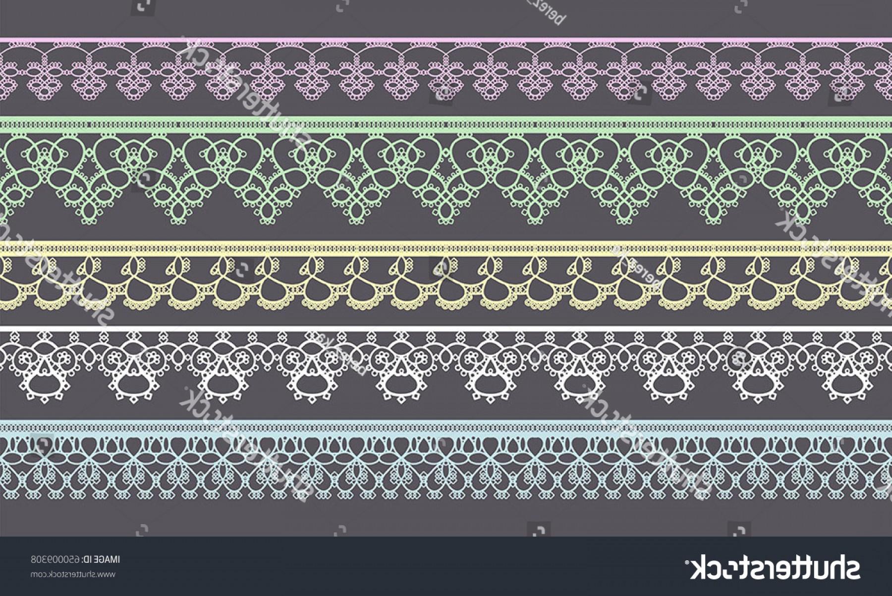 1800x1203 Set Lace Ribbons Design Scrapbook Vector Shopatcloth