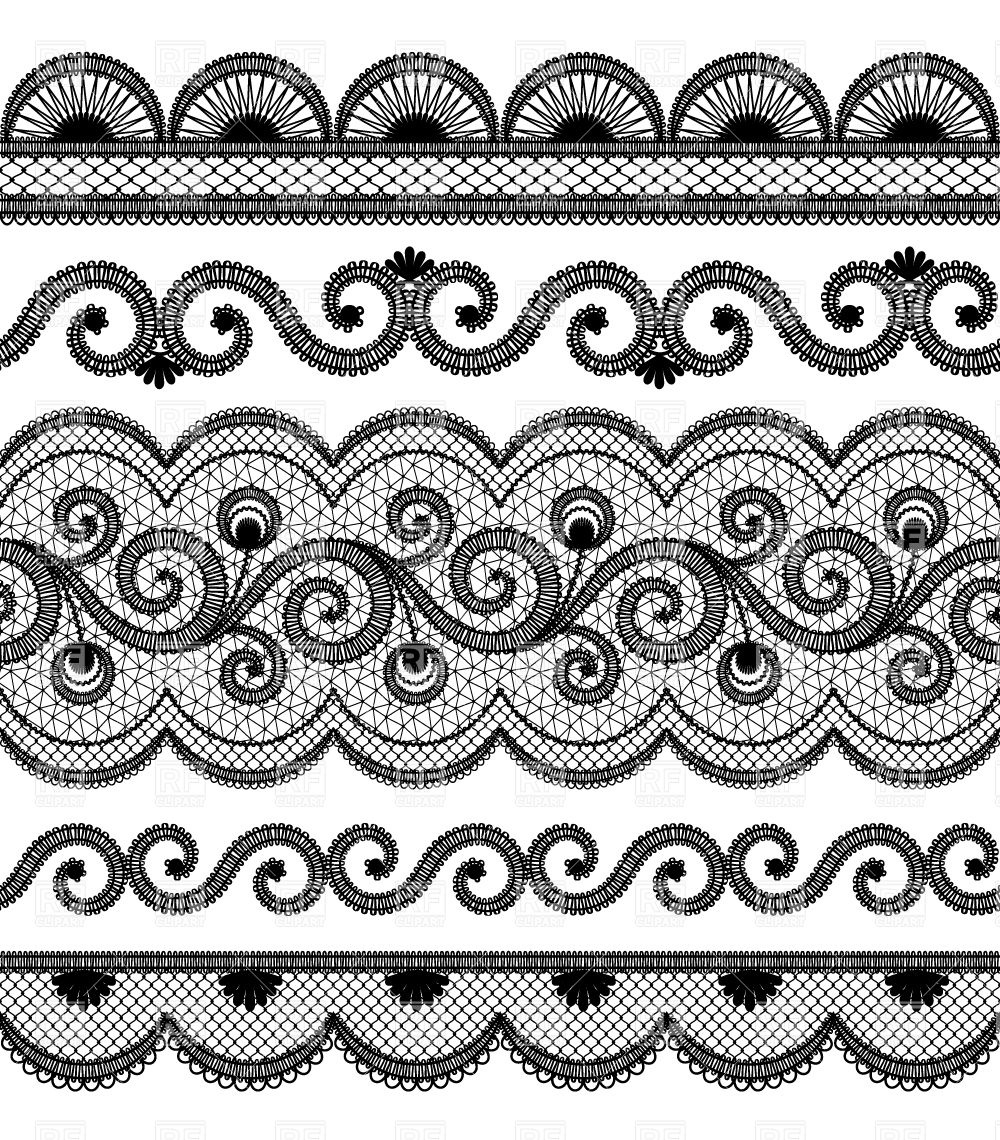 Abstract seamless lace pattern with flowers and leaves. 494944 Vector Art  at Vecteezy   1140x1000