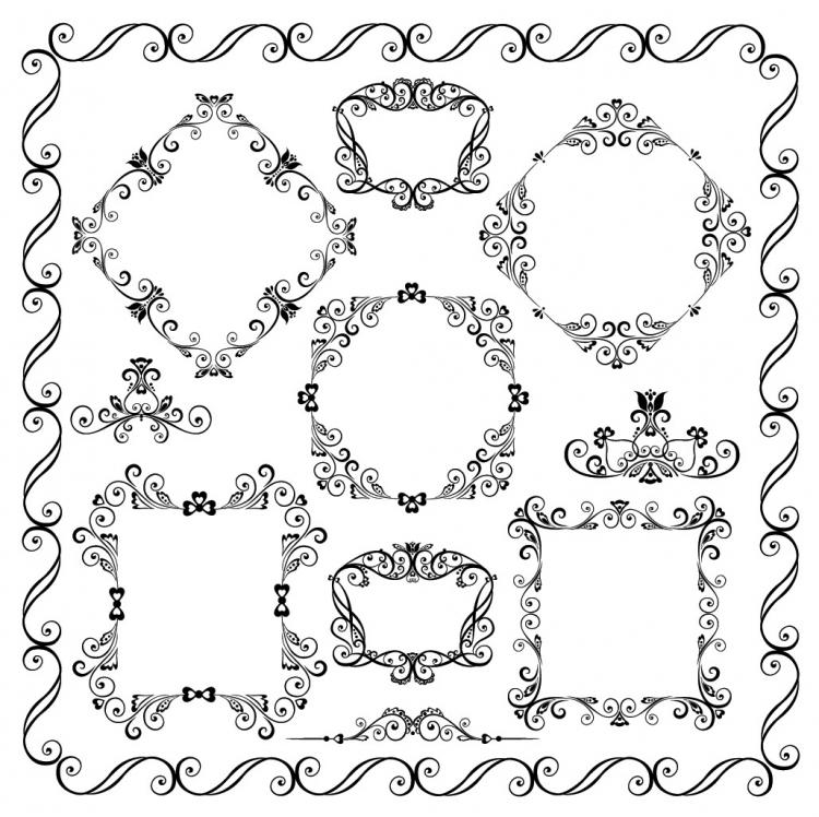 750x748 Europeanstyle Lace Vector Free Vector 4vector