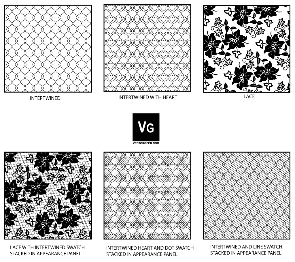 1024x908 Lace And Mesh Pattern Swatch By Vectorgeek