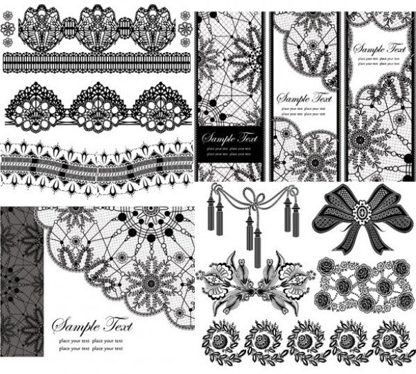 600x539 Quality Lace Vector Collection