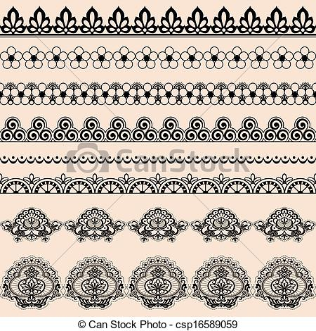 450x470 Brush Lace. A Set Of Brushes For Illustrator Lace.
