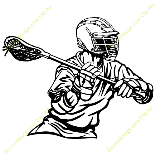 Lacrosse Player Vector