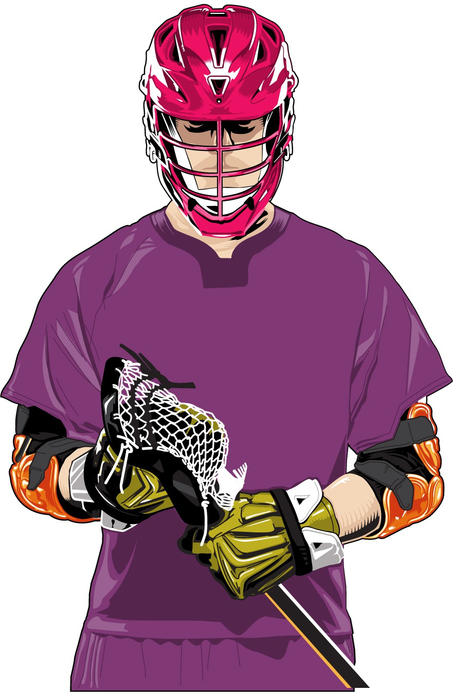 881x1344 Profile Intense Lacrosse Player In Protective Gear Profile Getting
