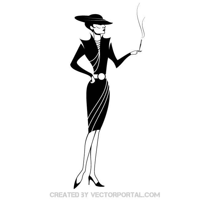 660x660 Elegant Lady Vector Illustration. Girls And Women Free Vectors
