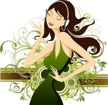 376x368 Fashion Lady Vector Free Vector Download (5,312 Free Vector) For