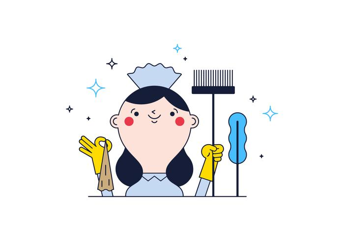 700x490 Free Cleaning Lady Vector