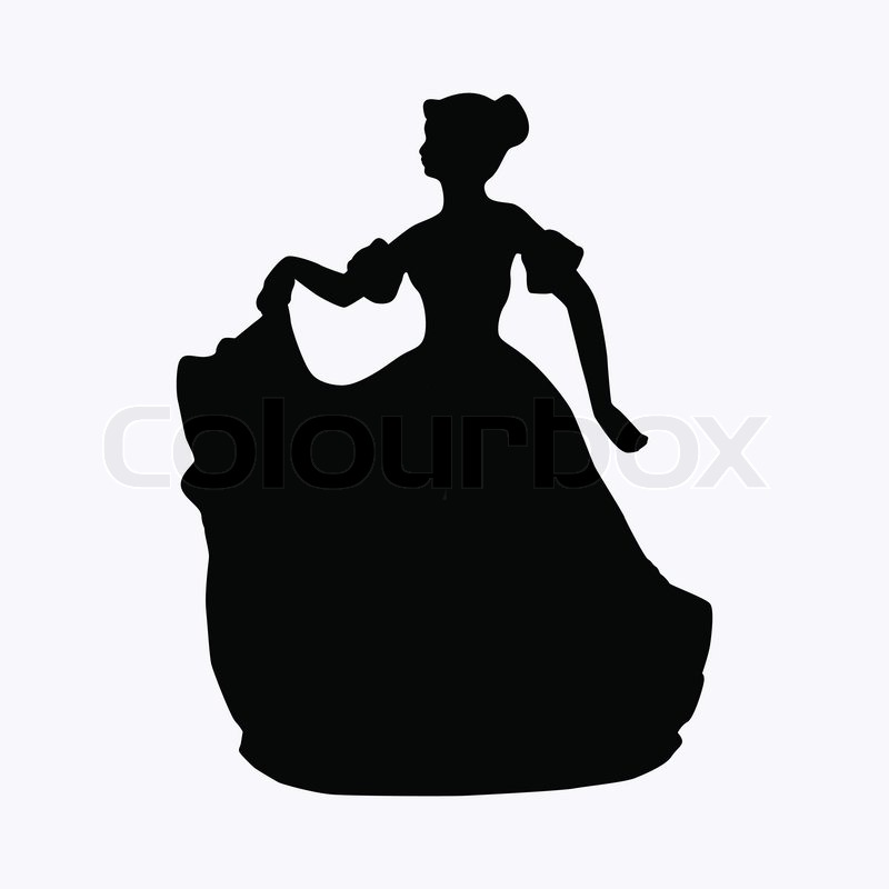 800x800 Vintage Victorian Lady Vector Silhouette Stock Vector Colourbox