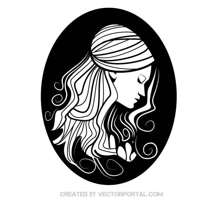 660x660 Young Lady Vector Illustration. Girls And Women Free Vectors