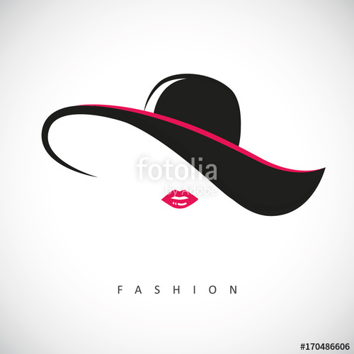 500x500 Fashion Lady Mit Hut Und Pinken Lippen Stock Image And Royalty