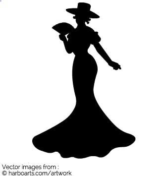 335x355 Download Victorian Lady Silhouette