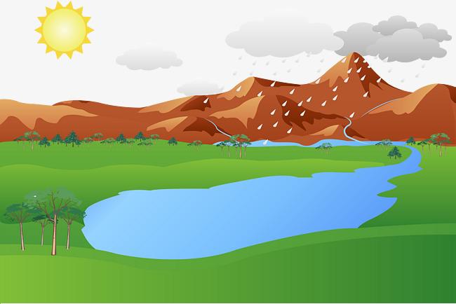 650x434 Mountain Lake Vector, Mountain Vector, Green, Water Png And Vector