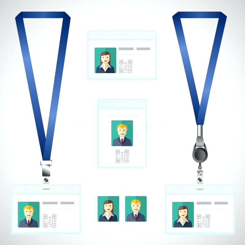 800x800 Download Lanyard Name Tag Holder End Badge Id Template Stock